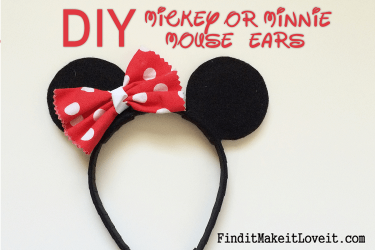 DIY Mickey or Minnie Mouse Ears (16)