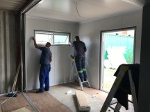 Finishing off the insulation