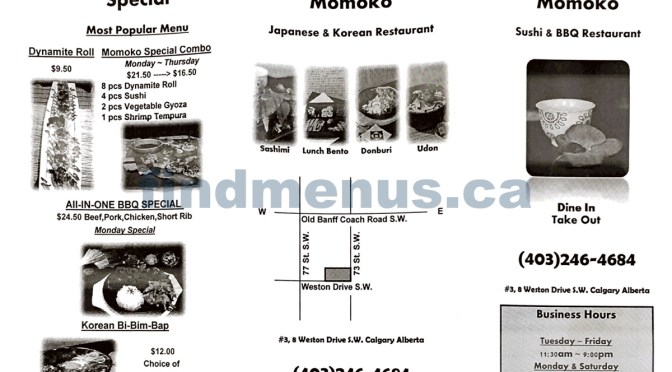 Cafe Momoko Japanese and Korean Restaurant