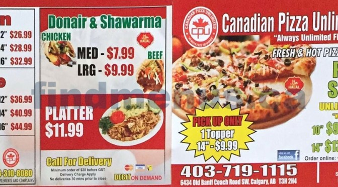 Canadian Pizza Unlimited & Donair