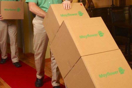 mayflower moving packing