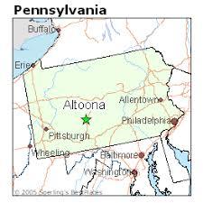 Altoona Pennsylvania map