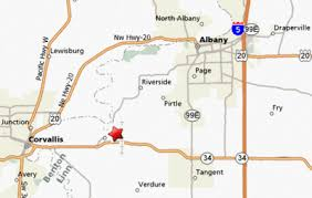 map of Albany Oregon