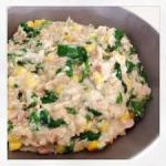 Tuna and spinach mornay with Mash