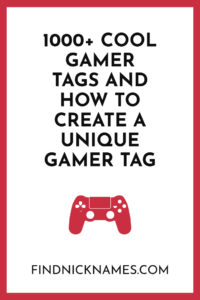 1000 cool gamer tags