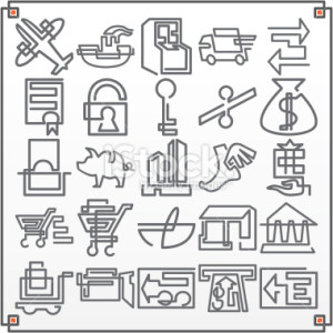 stock-illustration-1334842-continuous-line-icons-commerce-i-vector