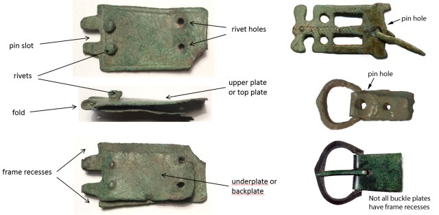 The parts of a buckle plate, showing PUBLIC-7FA101 (left), and HAMP1875, PUBLIC-E5Ec48, YORYM-F0AD35 (right, top to bottom)