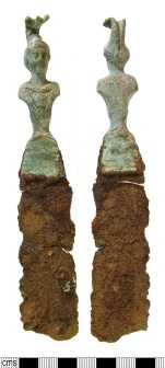 Roman spatula handles of Feugère type A5 depicting Minerva (WILT-9ECD01). Copyright: Salisbury and South Wiltshire Museum; CC-BY licence)