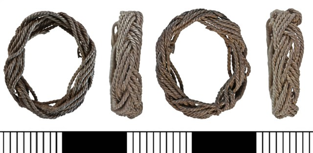 Ring of twisted three-ply wire, perhaps from a post-medieval sword-grip (LIN-C29D8B)