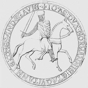 Great seal of King John (reverse)