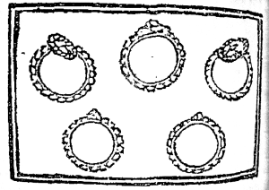 Five Gold Rings, by Anonymous.