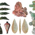 Image of seven archaeological finds from the county of Lincolnshire.