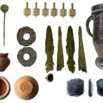 Image of seven archaeological finds discovered in Merseyside.