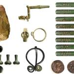 Image of seven archaeological finds from Staffordshire.
