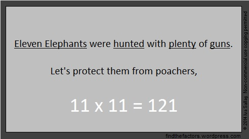 Elephant Multiplication Rhyme