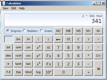 mod 341 calculator
