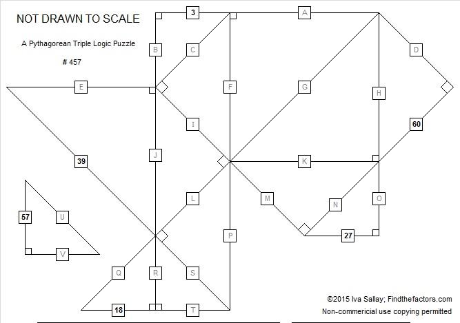 457 A Pythagorean Triple Logic Puzzle | Find the Factors