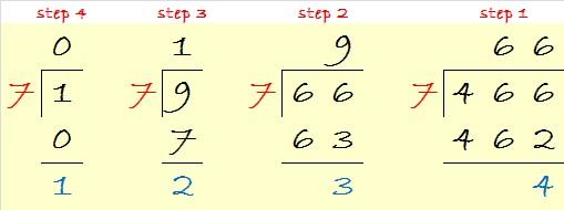 466 is 1234 in base 7 steps 4-1