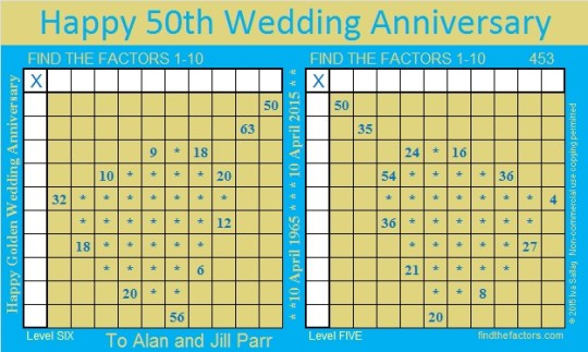 Golden Wedding Anniversary Puzzle