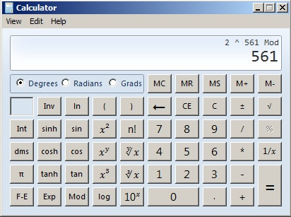 561 Mod Calculator
