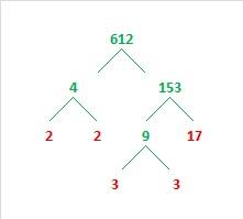 612 Factor tree