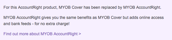 MYOB Cover