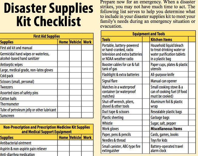 Disaster Preparedness For Seniors Download The Checklist