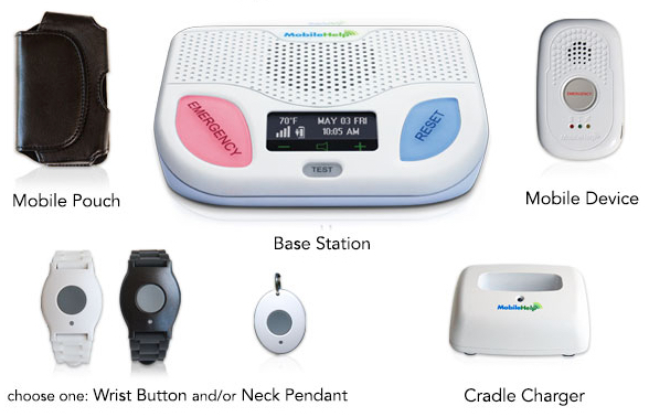 MobileHelp's Cellular Duo is a hybrid home and away system.