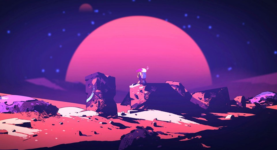 Checking out the sunset (?) on the alien planet