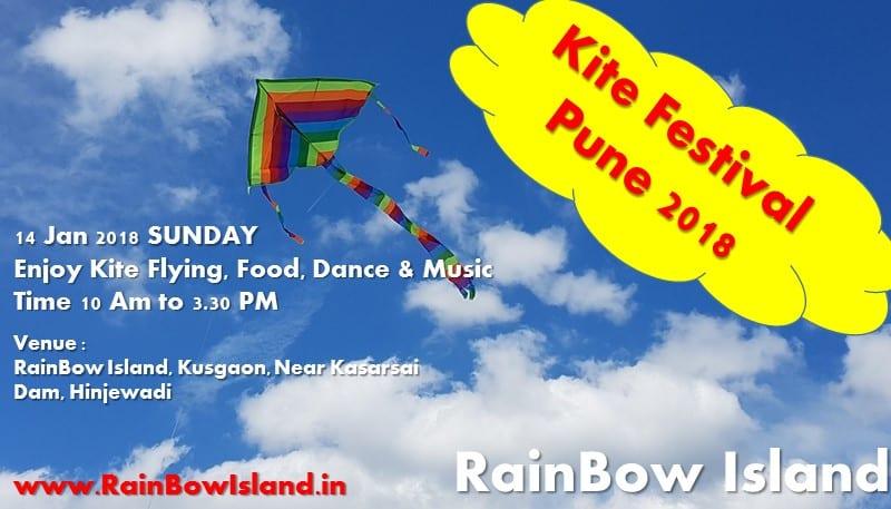 Kite festival 2018 Pune at RainBow Island 14 Jan 2018