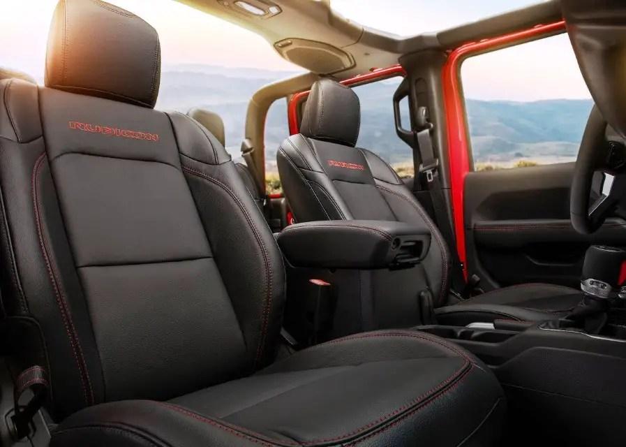 2020 Jeep Gladiator Interior Capacity