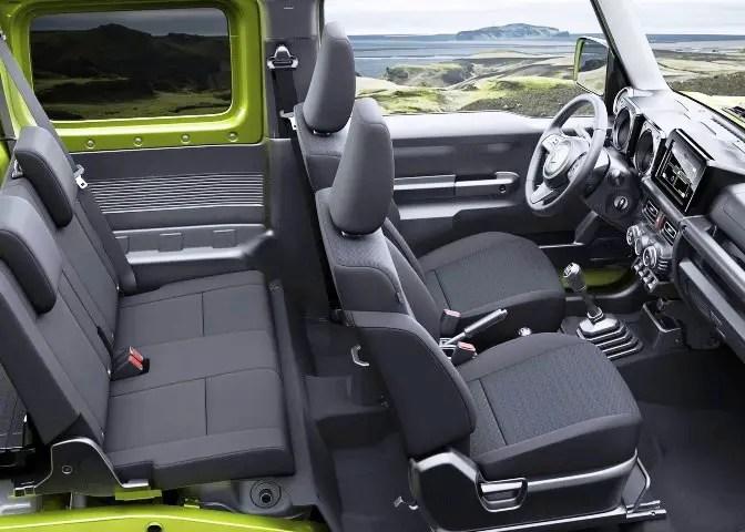 2020 Suzuki Jimny Seat Capacity