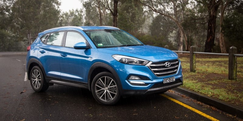 2020 Hyundai Tucson Blue Colors Exterior Photos