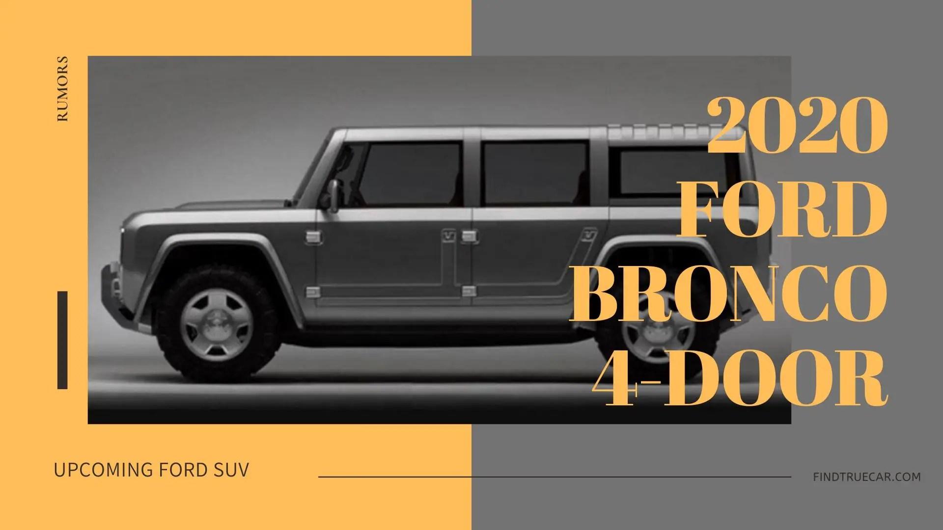 2020 Ford Bronco 4-Door Rumors
