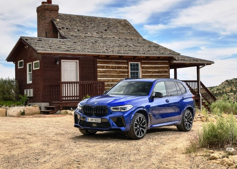 2020 BMW X5 M Competition Blue Color