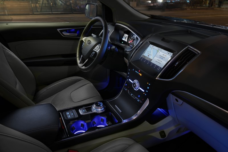 2020 Ford Edge New Interior Features With Blue LED