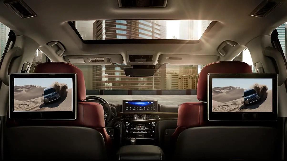 2021 Lexus LX570 Interior Rear Seat Entertaiment