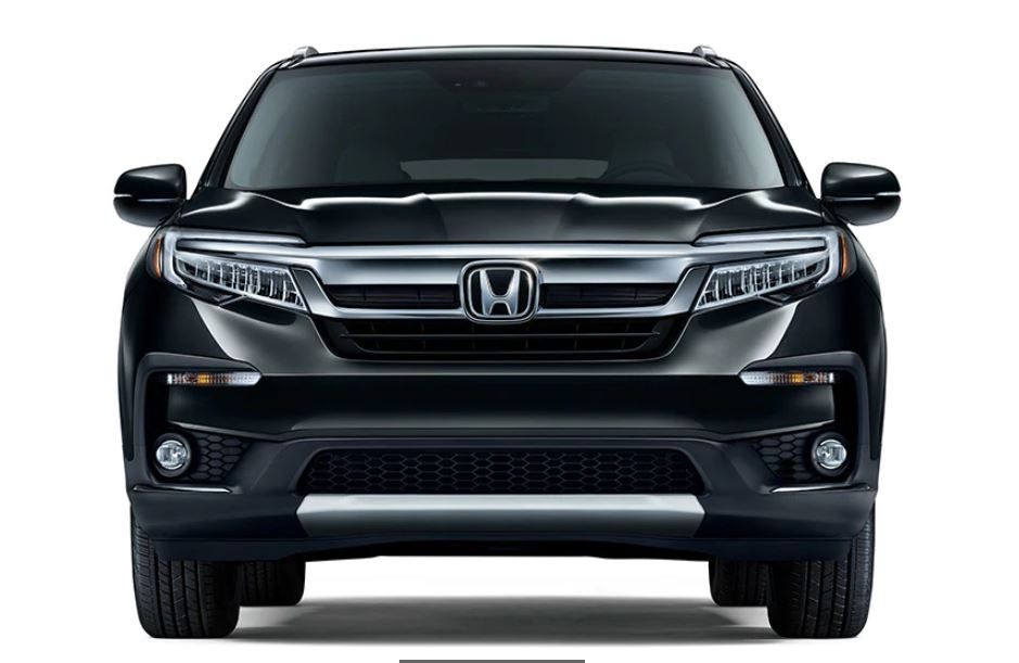 2021 Honda Pilot Front Angle With New Headlamp and Grill