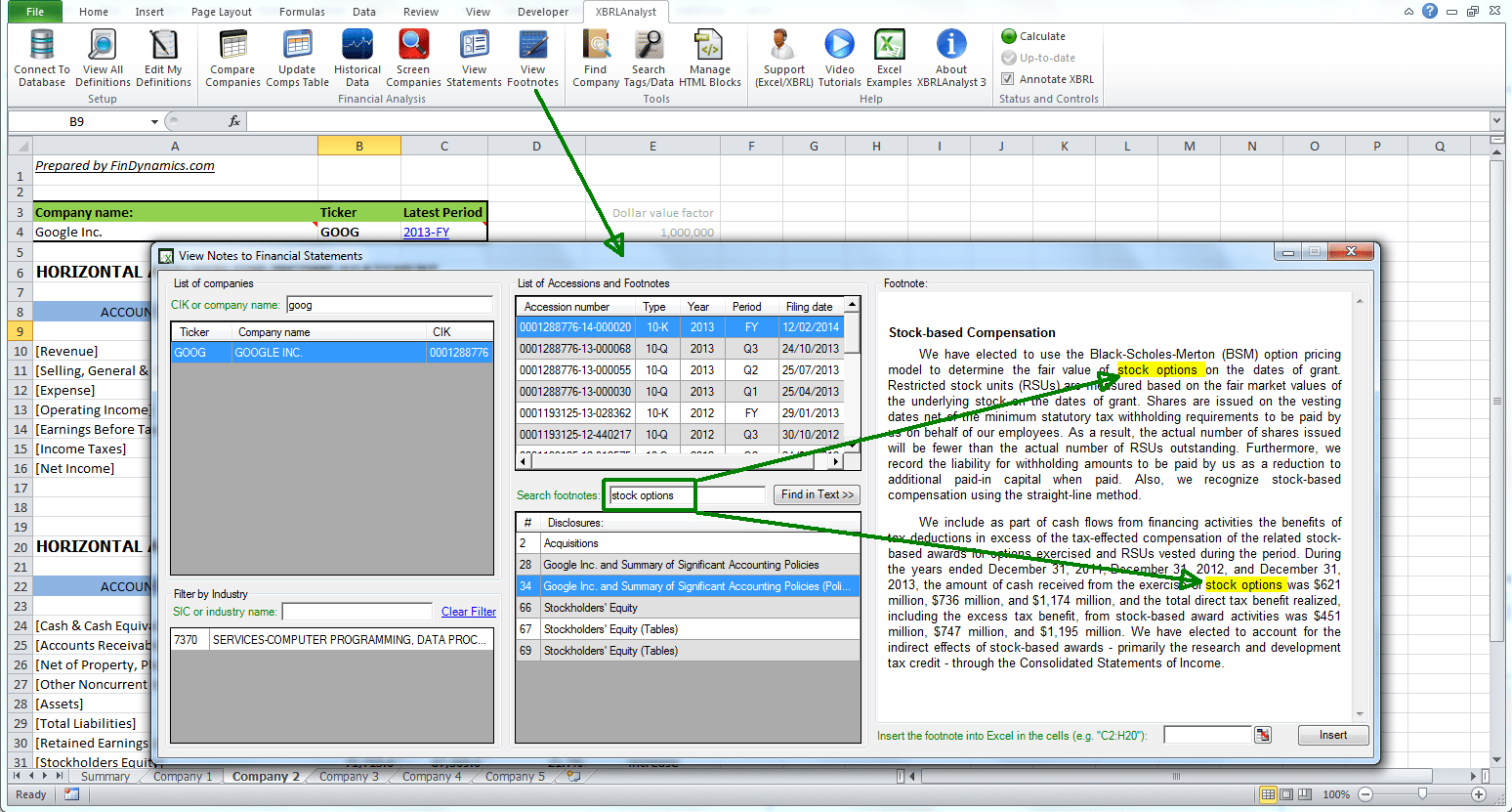 How To Use Xbrl Yst In Excel