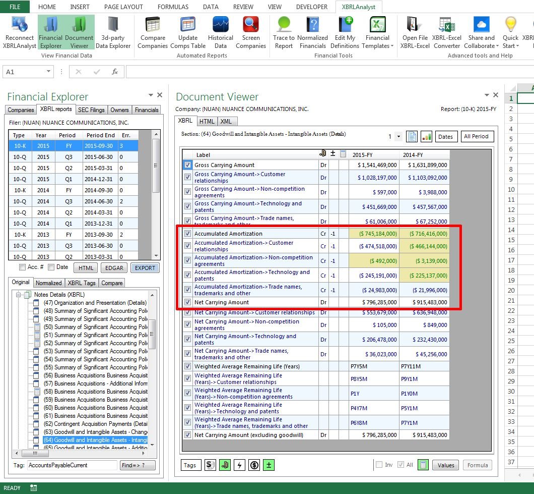 Xbrl Yst Corrects Xbrl Errors In Excel