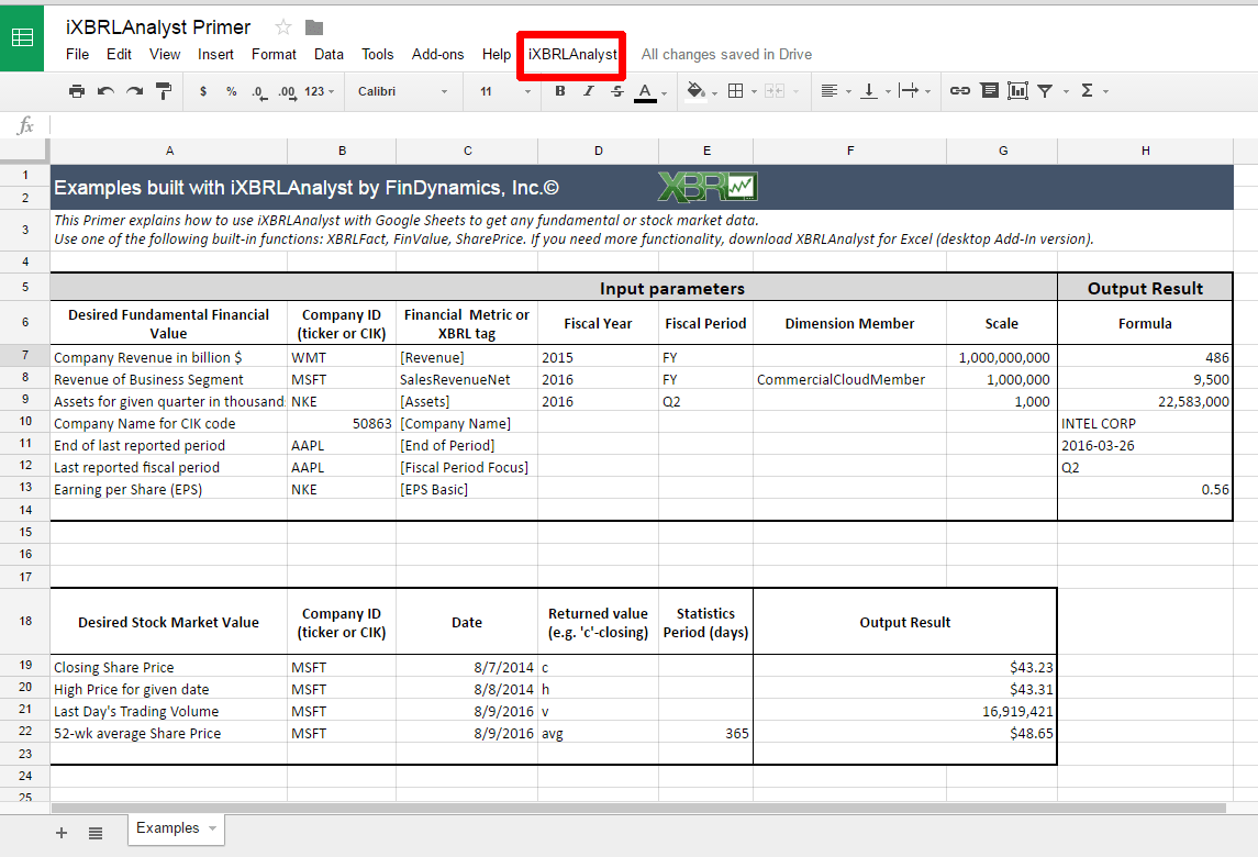 Insightful Xbrl From Excel To Sheets With Ixbrl Yst