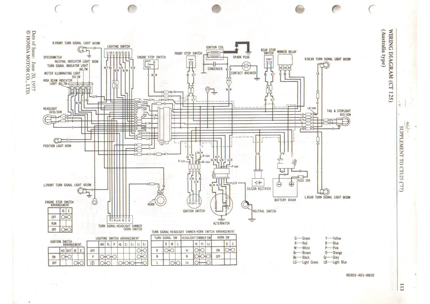 hight resolution of the 1977 honda ct125 wiring diagram simple as far as motorcycle wiring goes