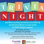 Trivia night for Cure Kids Fiji RHD Patient support