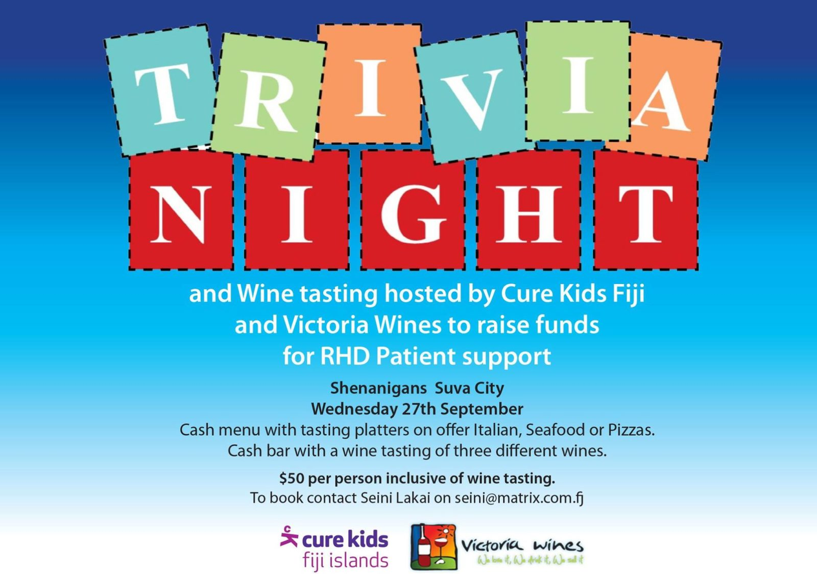 Trivia night for Cure Kids Fiji RHD Patient support