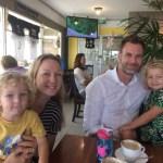 Matassa Family enjoying coffee