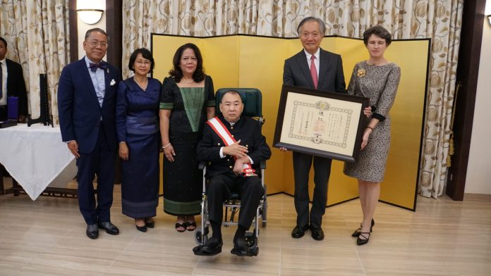 Conferment Ceremony of the Japanese Imperial Decoration to His Royal Highness Samdech Norodom Sirivudh, Former Deputy Prime Minister and High Privy Counselor of His Majesty the King of Cambodia