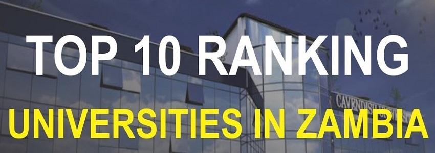 Top 10 Ranking Universities In Zambia