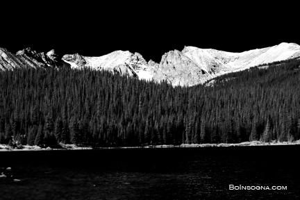 Brainard Lake - Black and White fine art photography print