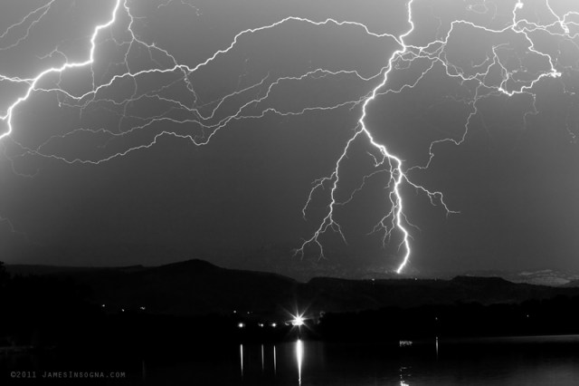 IMG 4423aBW800s Massive Rocky Mountain Lightning Storm Black and White Print