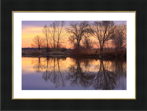 Pella Ponds Sunrise Lake Reflections Fine Art Framed Print